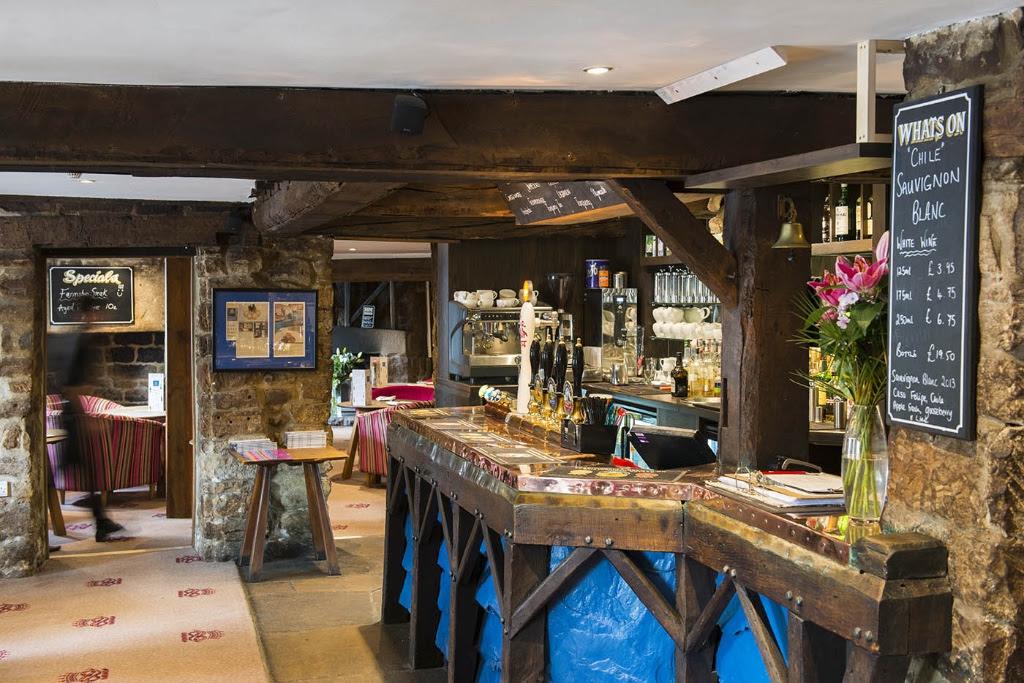 The bar at Devonshire Arms, Beeley