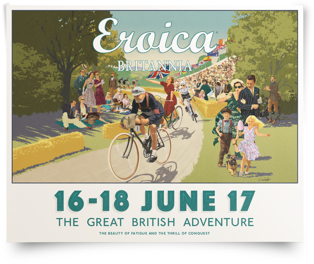 The poster for Eroica Brittania Festival 16 - 18 June 2017