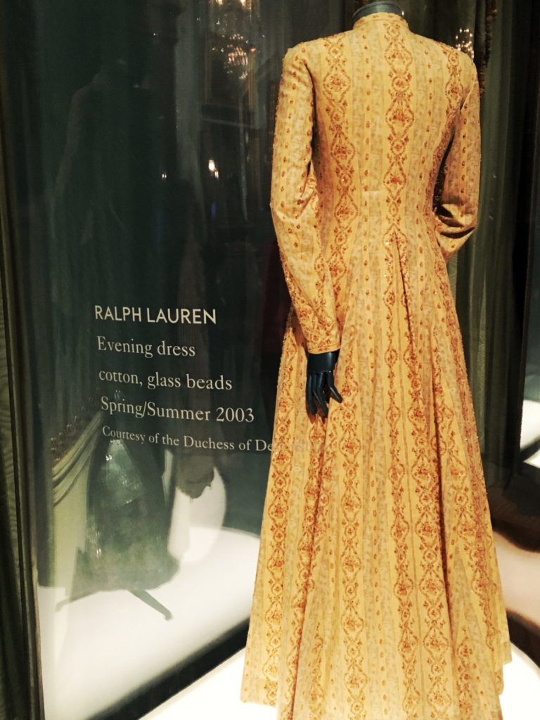 Ralph Lauren evening dress 2003 from House Style exhibition, Chatsworth