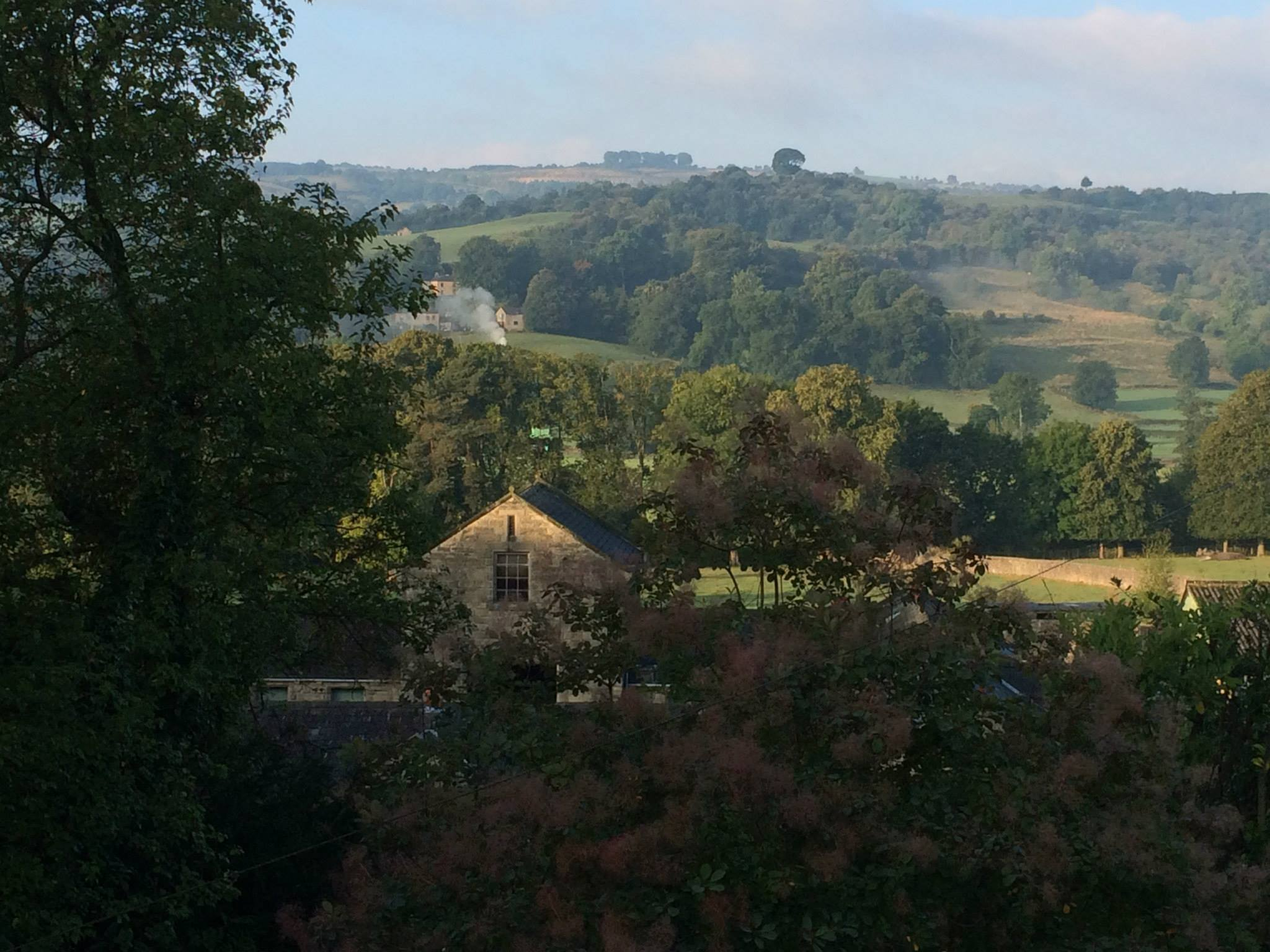 View from Dovedale bathroom