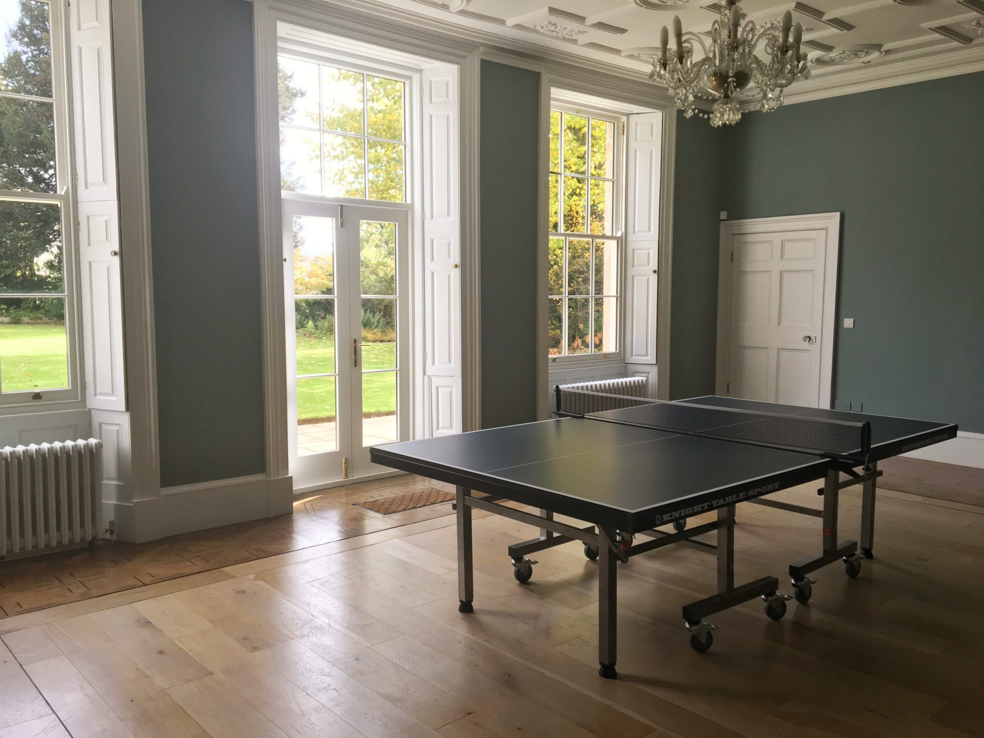 Darley House games room with table tennis table