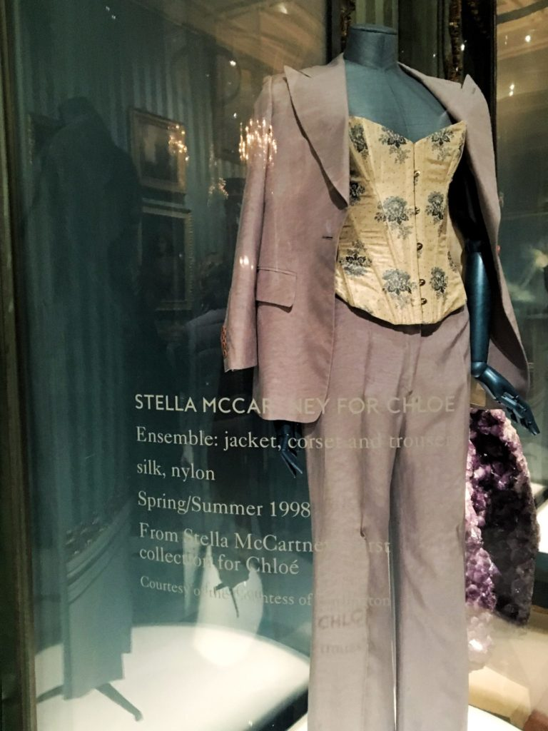 Stella McCartney suit 1998, House Style exhibition, Chatsworth