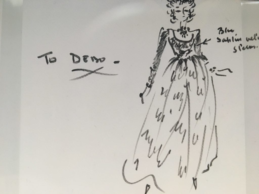 Hand drawn sketch by Givenchy for Debs