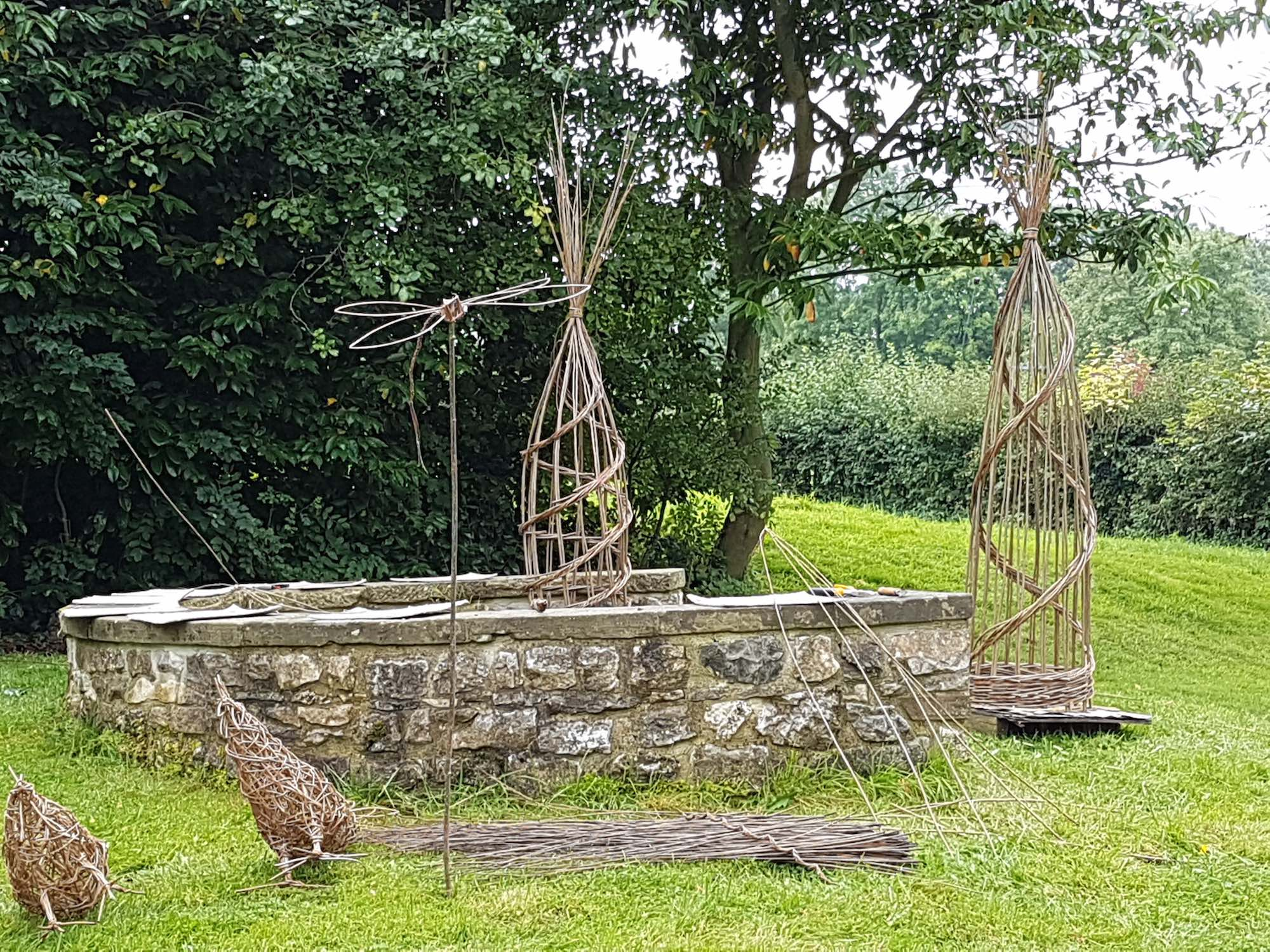 Darley House Willow Sculptures
