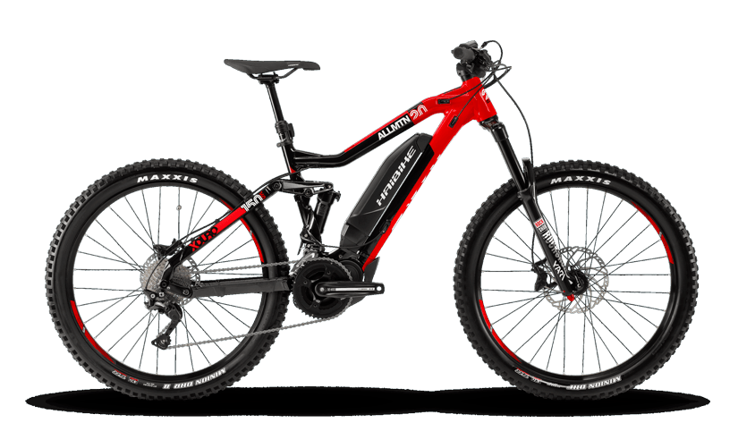 A haibike E-mountain bike